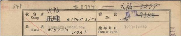 Deel van interneringskaart van de opa van Patrick